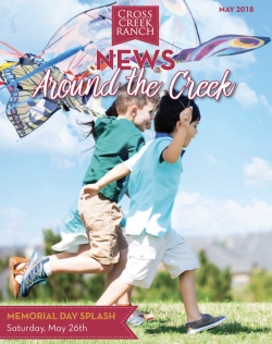 Cross Creek Ranch Newsletter May 2018