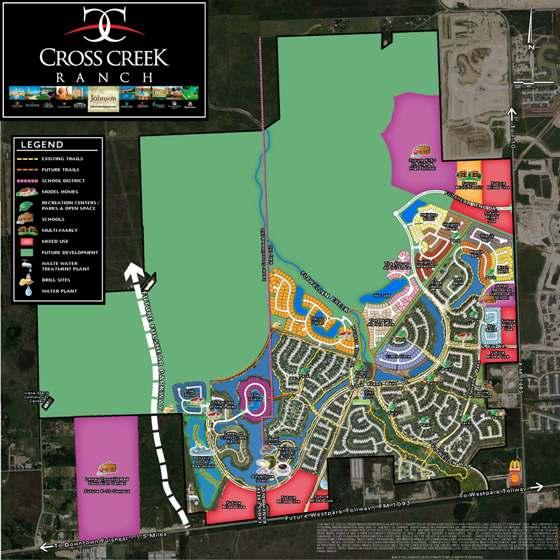 Cross Creek Ranch Fulshear Master Planned Community West Katy New